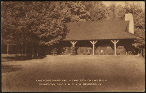 Kane Lodge dining hall - Camp Fitch on Lake Erie - Youngstown, Ohio Y.M.C.A., N. Springfield, Pa.