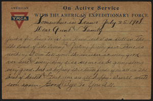 American YMCA on active service with the American Expeditionary Force