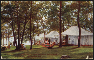 Tenting under the trees, Young Men's Christian Association Camp, Lake Geneva, Wis.