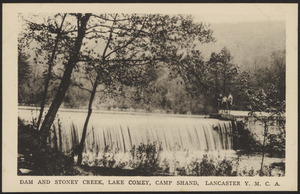 Dam and Stoney Creek, Lake Comey, Camp Shand, Lancaster Y.M.C.A.