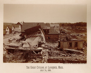 Houses and debris