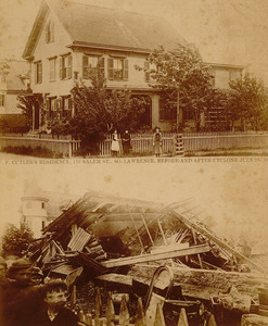 2 photos, W. F. Cutler's house, 176 Salem St. (before and after)