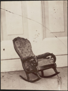 Chair in which President Lincoln was assassinated