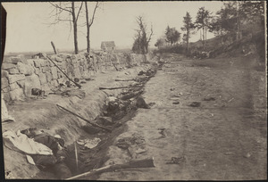 Confederate dead in trenches at foot of Mary's Heights, Fredericksburg [Virginia] May 3, 1863