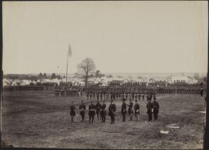 Camp of 7th New York Cavalry, near Washington, D.C., General I. N. Palmer & staff