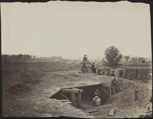 Confederate fortifications in front of Atlanta, Georgia