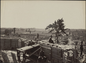 Fortifications in front of Atlanta