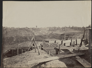 Confederate fortifications in front of Atlanta