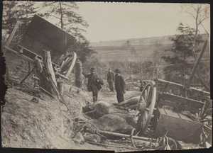 Effects of explosion of a shell, Fredericksburg, Virginia