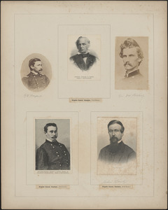 Five portraits: G. D. Bayard, Edward D. Baker, J. W. Bishop, George D. Bayard, John Beaty