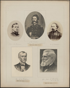 Five portraits: John M. Brown, L.C. Baker, W.J. Bolton, R.L. Bodine, John L. Beveridge