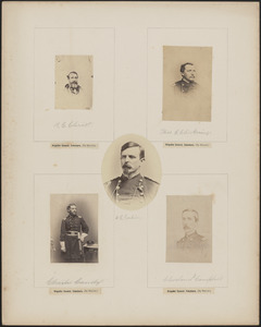 Five portraits: B.C. Christ, Thomas E. Chickering, Charles Candy, H.C. Corbin, Cleveland I.[?] Campbell