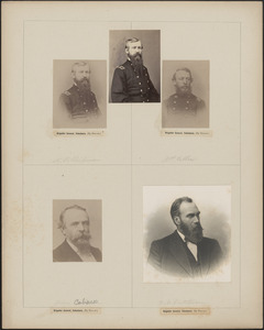 Five portraits: N.P. Chipman [two], J.P Cilley, John Coburn, B. McCutcheon[?]