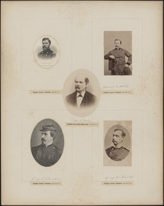 Five portraits: Henry M. Hoyt, James A. Hall, Guy N. [s/b 'V' - Vernor] Henry, Rush C. Hawkins, John W. Horn