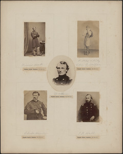 "Five portraits: Francis Heath, Charles G. Halpin [a.k.a.] ""Private Miles O'Reilly"", T. J. Hutchinson, Charles Hamlin, J. F. Hall"