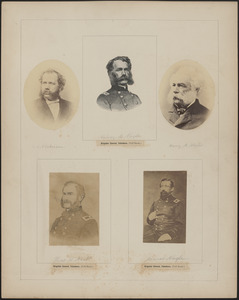 Five portraits: F. S. Nickerson, [two of] Henry M. Naglee, Thomas H. Neill, James Nagle