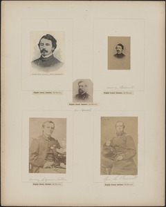 Five portraits: [two of] Henry Pleasants, George Pomutz, Henry Lyman Patten, George L. Prescott