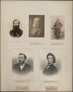 Five portraits: B. R. Pierce, William H. Powell, A. L. Pearson, William A. Pile, H. E. Paine