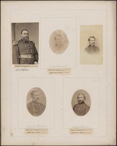 Five portraits: J. H. Potter, [two of] W. H. Penrose, Thomas G. Pitcher, Henry Prince