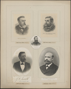 Five portraits: O. L. Spaulding, Franklin A. Stratton, Luther Stephenson Jr., J. C. Smith, Andrew Spurling