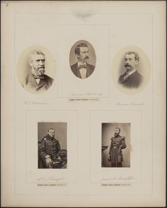 Five portraits: F. T. Sherman, James Shaw Jr., Thomas Sherwin, A. D. Streight, Jacob B. Sweitzer