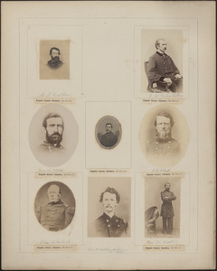 Eight portraits: M. B. Walker, E. W. Whitaker, Thomas Welsh, Durbin Ward, C. B. White, Charles Wheelock, A. Watson Weber [s/b Webber], George W. West