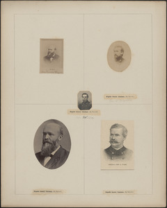 Five portraits: [two of] Louis Wagner, George D. Wells, John Wilder, John A. Wiley