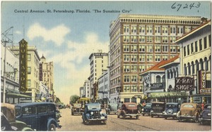 "Central Avenue, St. Petersburg, Florida, ""the sunshine city"""