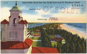 Pass-A-Grill Beach from Don Ce-Sar Hotel, near St. Petersburg, Florida
