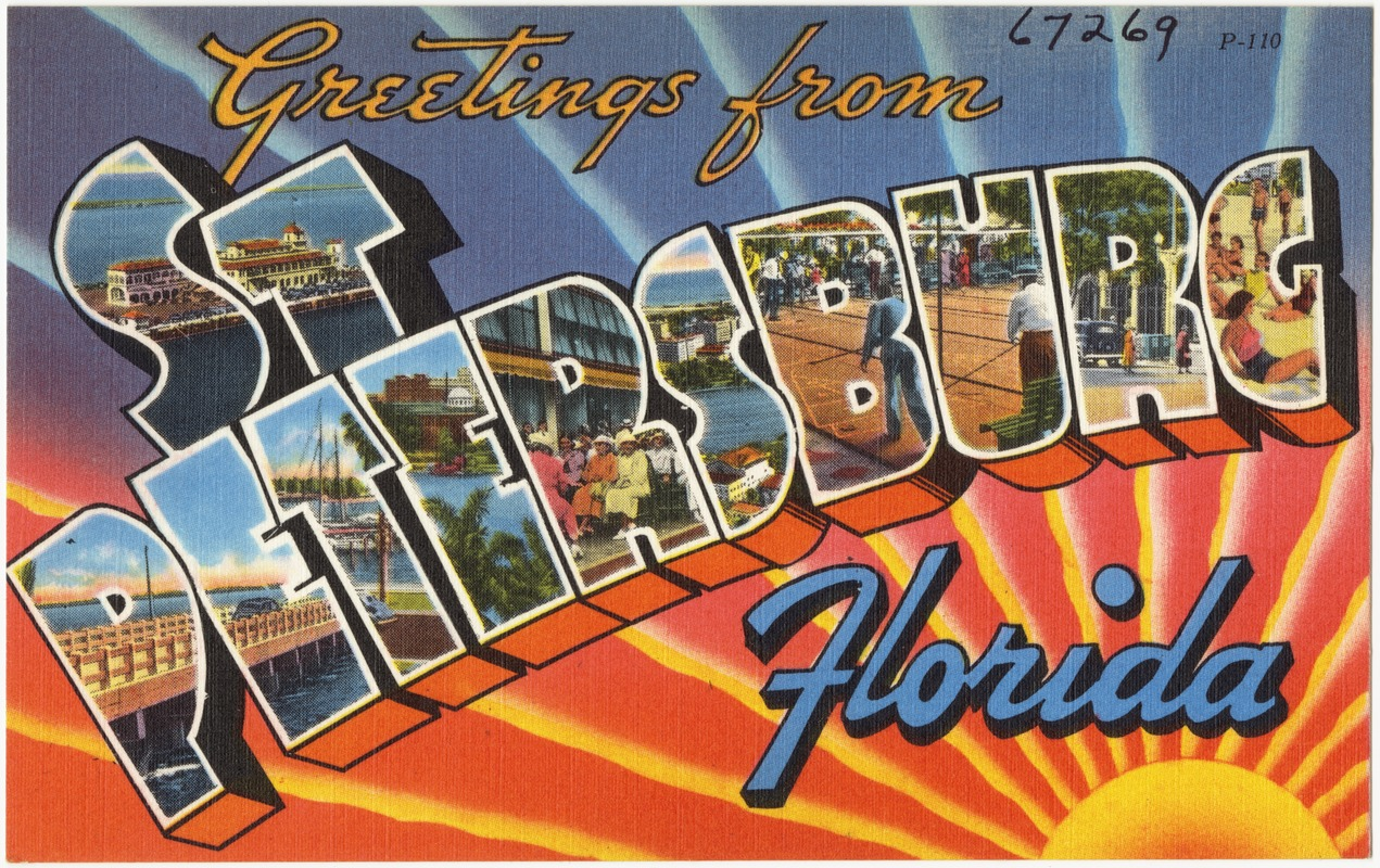 Greetings from st petersburg florida digital commonwealth greetings from st petersburg florida kristyandbryce Image collections