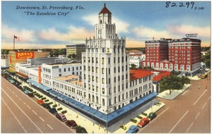 "Downtown, St. Petersburg, Florida, ""the sunshine city"""