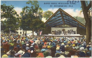 Band shell Williams Park, St. Petersburg, Florida
