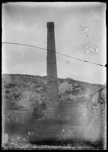 Brick chimney. Brickworks