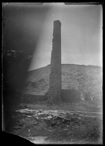 Damaged chimney, unidentified. Brickworks