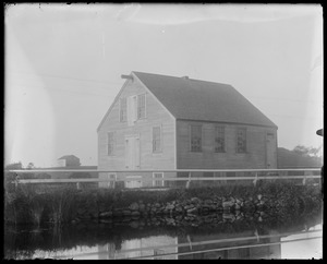 "WT mill. Barn in distance called barn on ""the Neck Place"" (Manter's Neck)"
