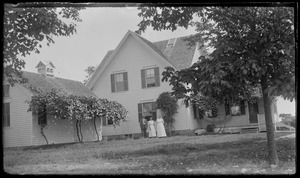 Taken from back of house, probably house now owned [by] Brent Taylor , built by Capt. Geo. Athearn opp. gas station & Donaldson house, WT