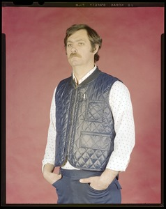 Quilted vest w/removable liner, Daigle, CEMEL