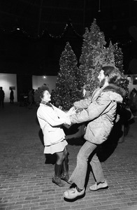 Christmas-time dancing in Cyclorama, South End