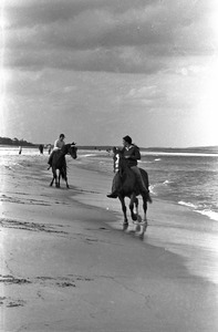 Horseback riders in surf, Crane's Beach, Ipswich