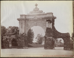 Distribution Department, arch at entrance to Chestnut Hill Reservoir, 1870 Arch, Brighton, Mass., 1893