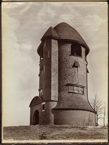 Distribution Department, Bellevue Standpipe (Tower), West Roxbury, Mass., 1893 (from 1888 image?)