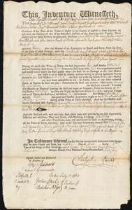 Document of indenture: Servant: Bleigh, Ann. Master: Ranks, Christopher. Town of Master: Boston