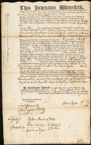 Document of indenture: Servant: Bradley, Samuel. Master: Pease, Peter. Town of Master: Edgartown