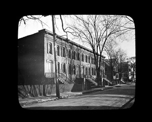 Brick block, first brick apartment house in Quincy