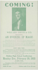 Coming! Willard Smith & Co. presenting an evening of magic