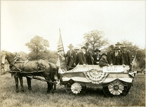 Grand Army of the Republic float, Williamsburg, Mass. Old Home Days, 1915