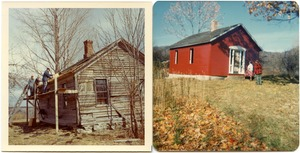 Nash Hill Schoolhouse restoration diptych, c. 1971-86