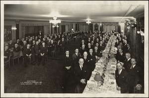 Sales Dinner, J.P. Stevens & Company, Inc., Hotel Roosevelt, New York City, 1935 [graphic]