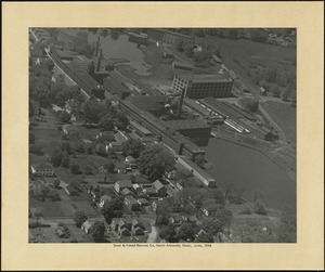 Aerial view of Davis & Furber Machine Company, North Andover, Mass., June 1946 [graphic]