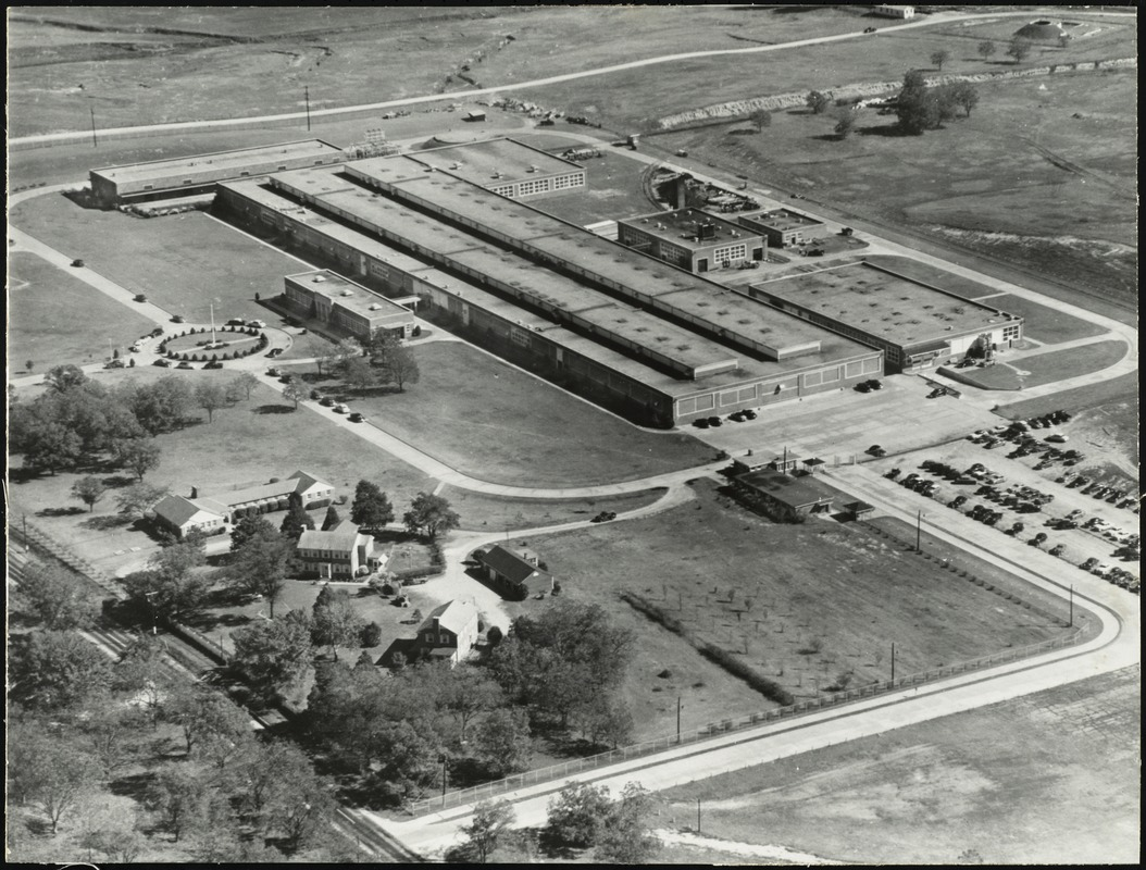 Aerial view of the Milledgeville Plant of J.P. Stevens & Co., Inc. in Milledgeville, Ga. [graphic]